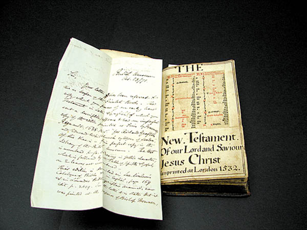 "Antiques and Auction News Article: 16th Century ""The New Testament"" Bible Sells For $18,000 At Alderfer Auction"
