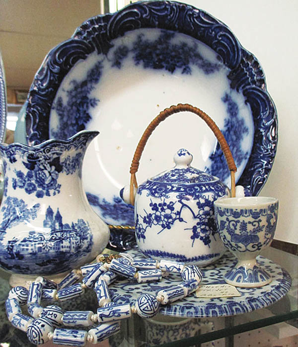 Antiques and Auction News Article: Blue And White Sales Display On View At Haddon Heights Antiques Center