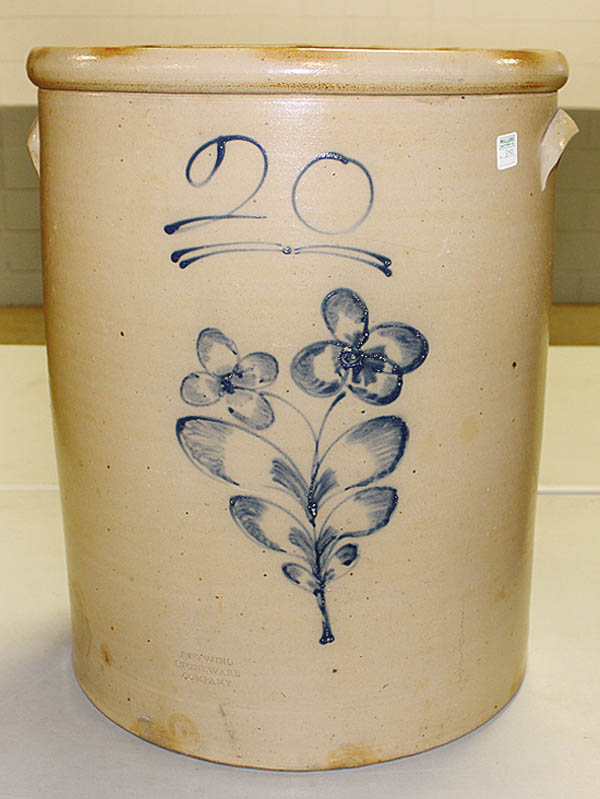 Antiques and Auction News Article: Strong Prices Realized At Glenn Miller's Stoneware Auction In Tomah, Wis.