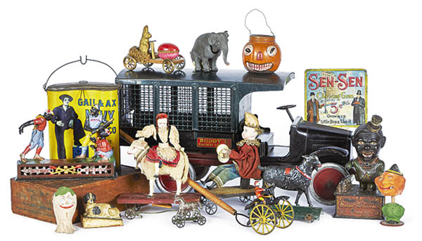 Antiques and Auction News Article: Christmas Antique Toy Auction with Noel Barrett At Pook & Pook Inc.
