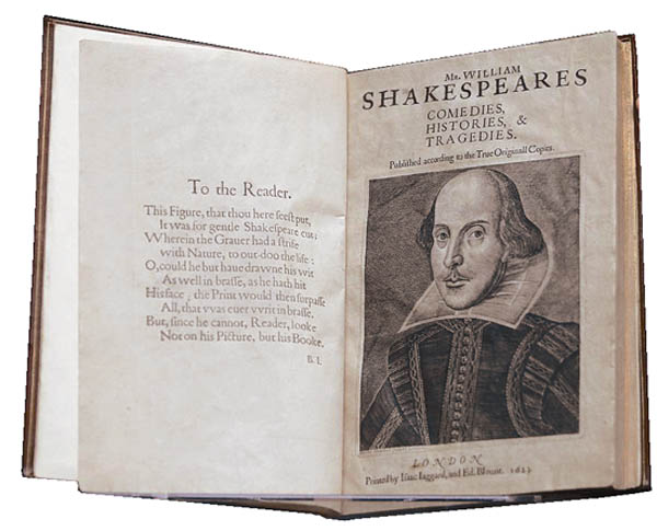 Antiques and Auction News Article: William Shakespeare's First Folio To Be Offered At Christie's